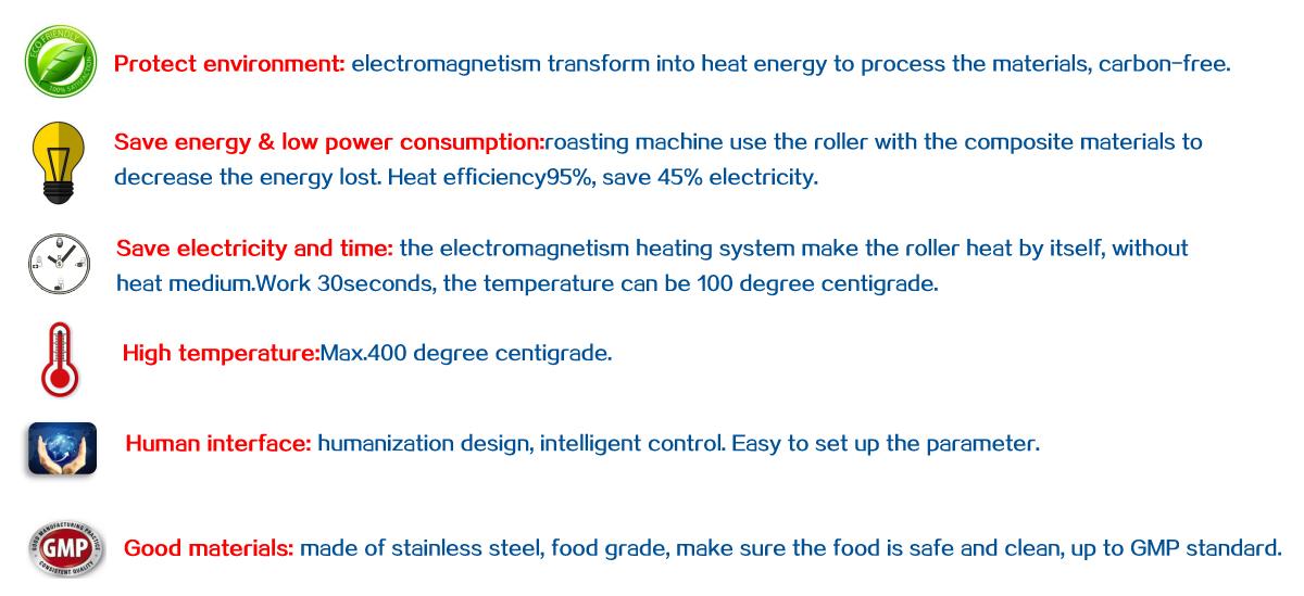 Our roasting machine advantages